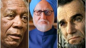 Morgan Freeman as Nelson Mandela in Invictus, Anupam Kher as Manmohan Singh and Daniel Day Lewis as Abraham Lincoln.