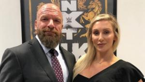 Triple H with Charlotte Flair (R)(Charlotte Flair/ Twitter)
