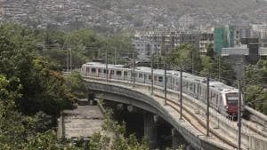 Chided by his mother for going late to school, a 10th standard student allegedly attempted suicide by jumping in front of a Metro train here Friday, police said.(Hindustan Times)