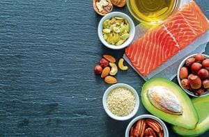 Selection of good fat saurces, copy space(Getty Images/iStockphoto)