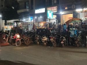Bikers speeding on Kondhwa road is a common sight.(HT/PHOTO)