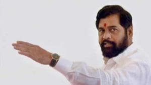 Maharashtra Health Minister Eknath Shinde Monday had a first-hand experience of the rundown condition of some primary health centres in the Palghar region when the chair he was sitting on broke during an inspection.(PTI)