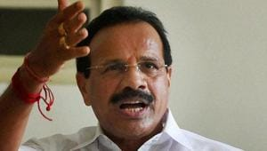 The BJP would stake claim to power in Karnataka if the Congress-JDS coalition government falls, Union minister D V Sadananda Gowda said in Bengaluru on Tuesday.(PTI Photo)