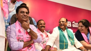 Telangana Rashtra Samithi (TRS) Working President K.T. Rama Rao will meet YSR Congress Party President Y.S. Jaganmohan Reddy here on Wednesday to invite the party to join the proposed Federal Front.(KT Rama Rao/Twitter)