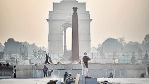 The under-construction National War Memorial in New Delhi.(Sanchit Khanna/HT Photo)