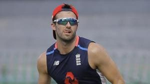 File image of Mark Wood in action during a training session.(AP)