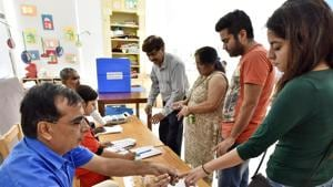 The statement said the gender ratio of electors in the final roll has increased to 812 as compared to 808 in the final roll published on January 10 last year.(Sanjeev Verma/HT PHOTO)