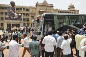 'He fell down': Karnataka Congress MLA downplays alleged fight