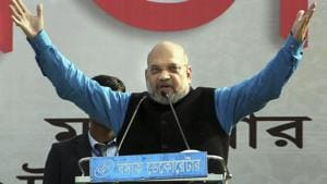 Earlier in the day, Amit Shah kick-started the BJP's campaign in West Bengal with a rally in Malda, saying all Bengali refugees would be granted citizenship with the passage of the citizenship bill.(PTI)
