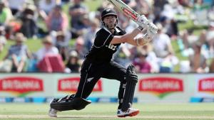 New Zealand's Kane Williamson bats during the first one-day international cricket match between New Zealand and Sri Lanka at Bay Oval in Mount Maunganui on January 3, 2019)(AFP)