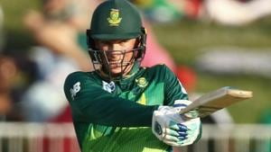 Rassie van der Dussen of South Africa bats during the 2nd One Day international match between South Africa and Pakistan.(AFP)