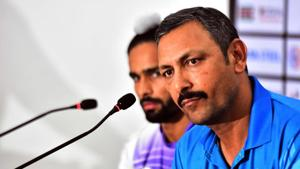 File picture of India's field hockey coach Harendra Singh(AFP)