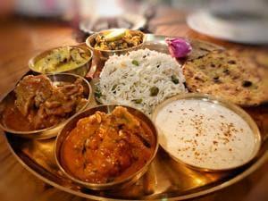 Quail, mutton, pakodewali kadhi, paneer bhurji, choliyewale chawal and missi roti made up the delicious thali at a recent pop-up in Mumbai by Punjabi home chef Sherry Malhotra and Bittu Meat Wala of Amritsar.