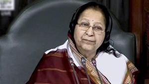 Speaker Sumitra Mahajan in the Lok Sabha in New Delhi.(PTI Photo)