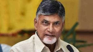 Chandrababu Naidu demanded that the Election Commission either ensure VVPAT receipts were issued 100 per cent or revert to the ballot paper system.(PTI)