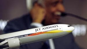 Jet Airways India Ltd. is seeking the approval of shareholders to convert loans into equity as the ailing carrier saddled with $1.1 billion of debt negotiates a rescue deal with its lenders and partner Etihad Airways PJSC.(Reuters File Photo)