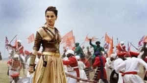 Kangana Ranaut in a picture from Manikarnika: The Queen of Jhansi.