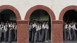 Indian school students will in 2021 appear for the Programme for International Assessment (PISA) test, which will help reveal where they stand globally as far as learning outcomes are concerned.(Saumya Khandelwal/HT PHOTO)