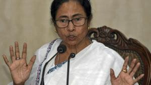 TMC chief Mamata Banerjee has been painting for several years and her works were auctioned a few times. Trinamool leaders always maintained that this was a novel way of raising funds for the party.(PTI Photo)