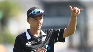 Trent Boult of New Zealand after taking five wickets during game four of the One Day International series between New Zealand and India at Seddon Park on January 31, 2019 in Hamilton, New Zealand.(Getty Images)