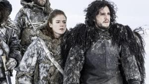 Rose Leslie and Kit Harington in Game of Thrones.