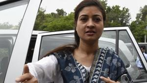 In December, Alka Lamba had claimed that AAP had sought her resignation. She also said that she had been removed from WhatsApp groups.(HT File Photo)