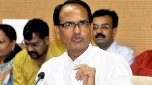 Shivraj Chouhan said the BJP won't rest till the Trinamool regime was ousted from Bengal.(HT photo)