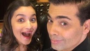 In a latest fashion magazine cover, Alia Bhatt and Karan Johar are celebrating their friendship in style(Karan Johar/Instagram)