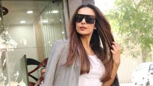 Malaika Arora was spotted at a salon in Mumbai.(Varinder Chawla)