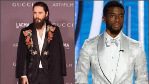 A-list actors are experimenting on red carpet sans the black tux.(Jared Leto, Chadwick Boseman/Instagram)