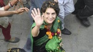 Priyanka Gandhi Vadra has been appointed the Congress general secretary of Uttar Pradesh East.(PTI)