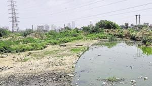 Backflow from the Badshahpur drain has been identified as a key reason for urban flooding in Gurugram, especially 2016's infamous 'Gurujam'.(Sanjeev Verma/HT File Photo)