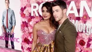 Priyanka Chopra and Nick Jonas at the premiere of Isn't It Romantic?
