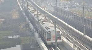 The Delhi Metro Rail Corporation (DMRC) is among the government agencies who have been issued property tax notices by the East Delhi Muninicpal Corporation.(Sakib Ali / HT Photo)