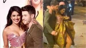 Priyanka Chopra was joined by Nick Jonas at the premiere of Isn't It Romantic.