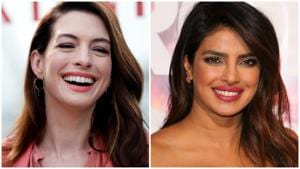 Both Anne Hathaway and Priyanka Chopra are 36 years old.(Agencies)