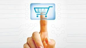 India's e-commerce market is currently estimated at Rs 19,650 cr, minus travel portals.(HT File Photo)