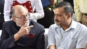 Two judges of the Supreme Court will soon decide the Aam Aadmi Party's challenge to the Centre's orders stripping the city government of its powers over the anti-corruption branch, bureaucrats and more.(Sonu Mehta/HT PHOTO)