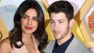 Priyanka Chopra and Nick Jonas promote her dating app, Bumble.