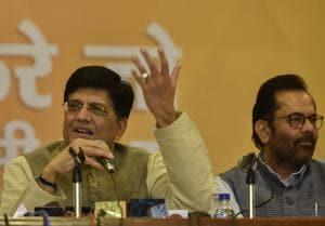Union Finance Minister Piyush Goyal.(Kunal Patil/HT File Photo)