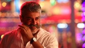 Ajith Kumar in a scene from his late film, Viswasam.