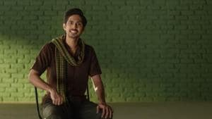 Hum Chaar actor Tushar Pandey in a still from the film.