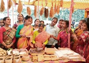Different rice varieties being sold at the district market in Uttar Dinajpur, West Bengal.