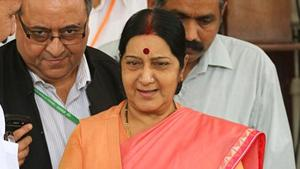 External affairs minister Sushma Swaraj will be the first Indian foreign minister to participate in the OIC foreign ministers meeting.(Arvind Yadav)