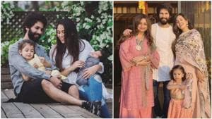 Shahid Kapoor is the happiest when he is with his family -- wife Mira Rajput and children Misha and Zayn.(Instagram)