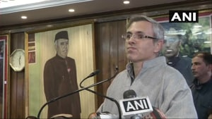 Former Jammu and Kashmir chief minister and national Conference leader Omar Abdullah wants teh Centre to hold elections in the state so that a local government will safeguard Article 35 A of the Constitution.(ANI)