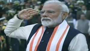 Prime Minister Narendra Modi at the inauguration of National War Memorial in New Delhi on Monday.(ANI photo)