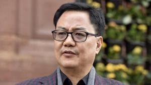 New Delhi, India - December 27, 2018: Minister of State for Home Affairs Kiren Rijiju during the winter session in Parliament, in New Delhi, India, on Thursday, December 27, 2018. (Photo by Sonu Mehta / Hindustan Times)(Sonu Mehta/HT PHOTO)