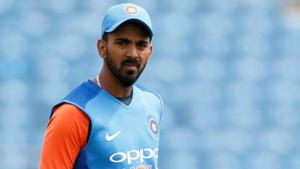 File image of India cricketer KL Rahul in action during a training session.(Action Images via Reuters)