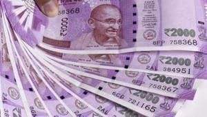 New Delhi, India - Dec. 1, 2016: New 2000 rupee currency note. (Photo by Sonu Mehta/ Hindustan Times)(Sonu Mehta/HT PHOTO)